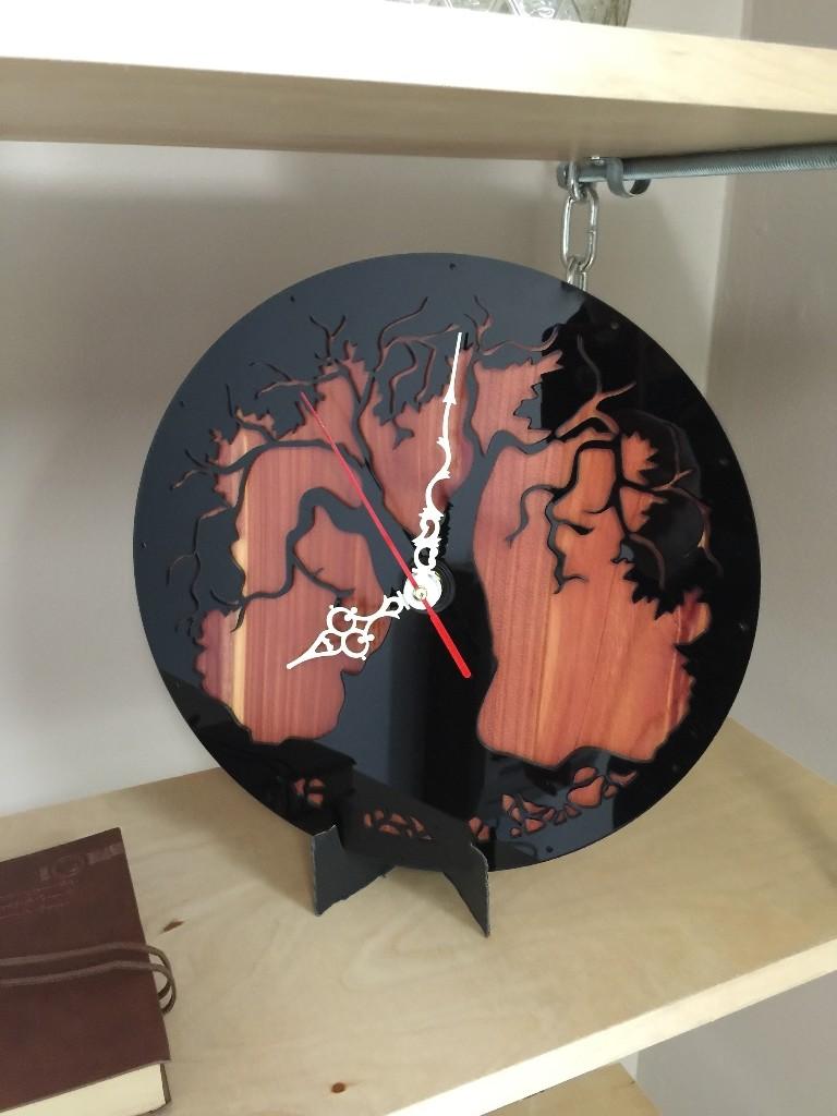 Acrylic Cedar Clock